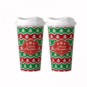 Reusable Plastic Travel Cups Mugs, Tumbler for Hot Cold Drinks, Travel Cup to Go Coffee Cup