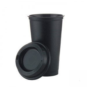 16oz Single layer plasitc PP coffee cups travel tumblers coffee mugs