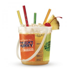 35OZ Plastic Drink Bucket with Handle
