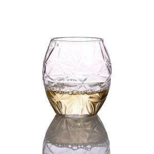Charmlite Crystal Stemless Wine Glasses PET Wine Glasses Tritan Wine Tumbler Whisky Tumblers – 16oz