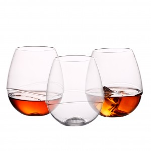 Charmlite Plastic Wine Glass Shatterprrof Tritan Wine Glass Tritan Wine Glasses – 18oz