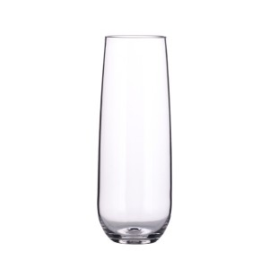 Charmlite Thickness Colored Champagne Flutes Stemless Champagne Glass 280ml Acrylic Flutes – 10 oz