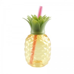 Charmlite New Plastic Pineapple Shape Drinking Cup with LED Funtion 16oz