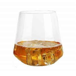 Charmlite Unbreakable Tritan Whisky Glass Reusable Cocktail Glass Shatterproof Tumbler-14oz