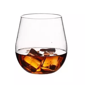Charmlite BPA-free Recyclable Whiskey Glass Plastic Beer Tumbler Wine Glass – 18 oz