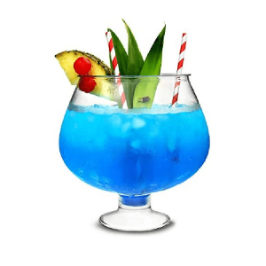 Plastic Footed Cocktail Fish Bowl 88oz / 2.5 Litre Party Cocktail Magarita Glass