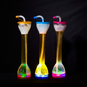 Stylish Fun LED Drinking Glow Cup With Straw – 24 oz / 700 ml