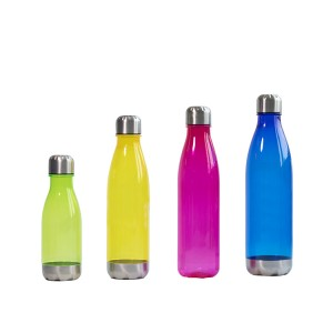 Charmlite Plastic BPA Free 650ml – Water Bottle with Stainless Lid and Base