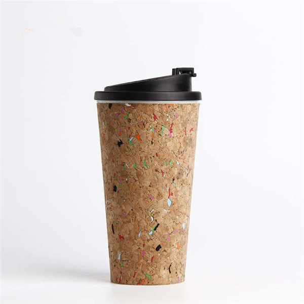 Charmlite 2020 NEW Natural Cork Coffee Mug with Lid Reusable and Biodegradable Material 16oz Featured Image