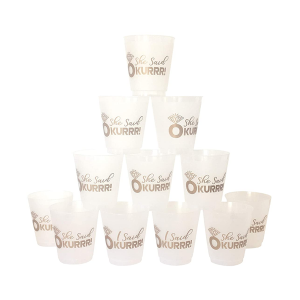 Charmlite PP Material Stadium Plastic Juice Cups Hard Plastic Cup with In Mold Label