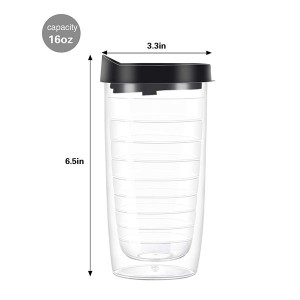 Charmlite New Insulated Tumbler for Both Hot and Cold Drinks 16 Ounce – BPA Free