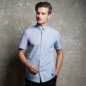 Polyester Cotton Classic Short Sleeve Slim Fit waiter uniform Shirt CM1056D154000H