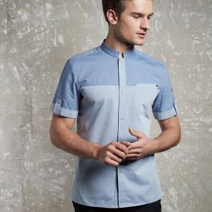 Short sleeve waiter shirt with one pocket on left chest CM1109D115000AM