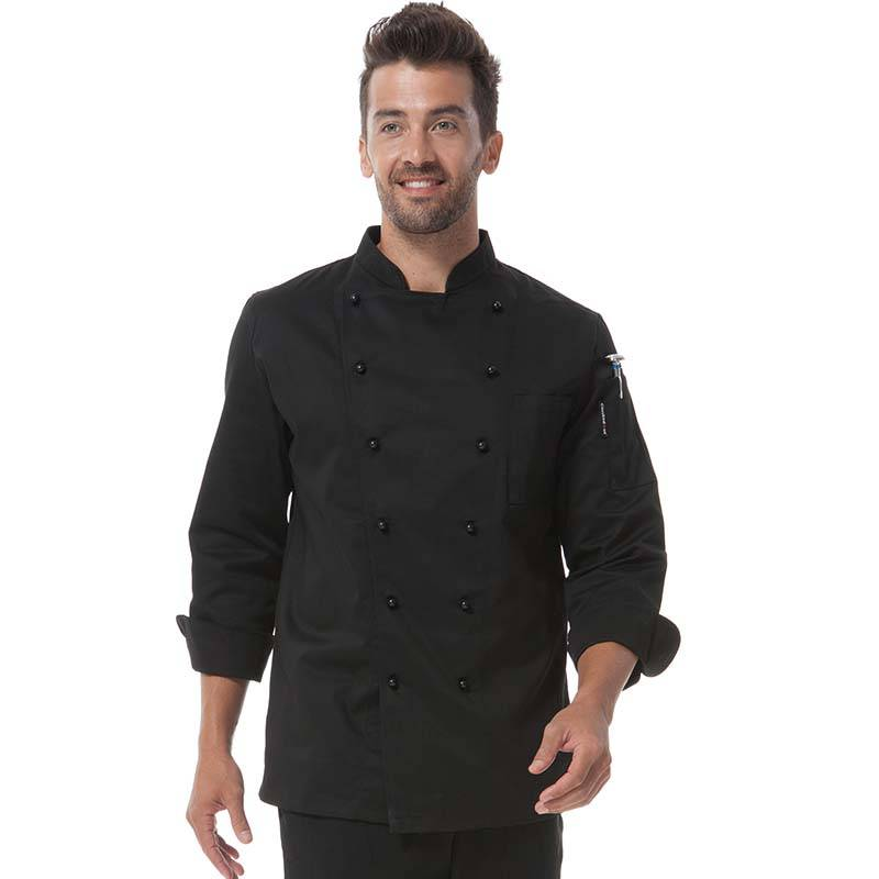 Double Breasted Chef Uniform With Removable Plastic Low-Dome Stud Buttons Cooking Uniform For Hotel And Restaurant  CU101C0100A Featured Image