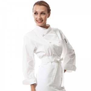 Double Breasted Cross Collar Long Sleeve Chef Uniform And Chef Jacket For Hotel And Restaurant CU102C0200C