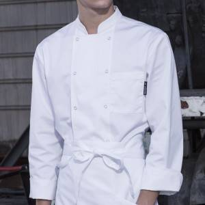 Classic Fashion Double Breasted Long Sleeve Chef Coat And Chef Uniform With Stand Collar For Restaurant And Hotel CU104C0200A-1