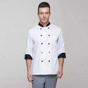 Classic Double Breasted Long Sleeve Chef Jacket For Hotel And Restaurant CU104C0201A1