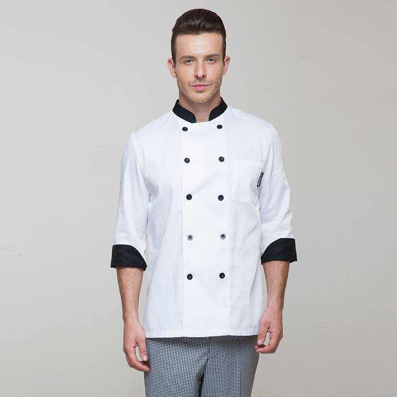 Classic Double Breasted Long Sleeve Chef Jacket For Hotel And Restaurant CU104C0201A1 Featured Image