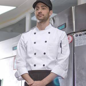 Classic Double Breasted Long Sleeve Chef Jacket For Hotel And Restaurant CU104C0201A2