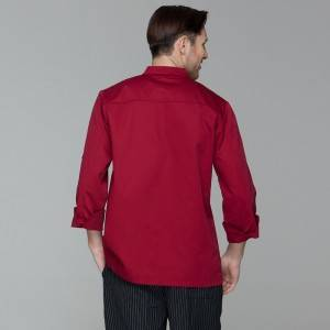 Classic Double Breasted Contrast Color Long Sleeve Chef Jacket And Chef Uniform For Hotel And Restaurant CU104C0401A1