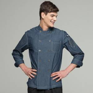 Classic Double Breasted Long Sleeve Chef Jacket For Hotel And Restaurant CU104C4100T-2