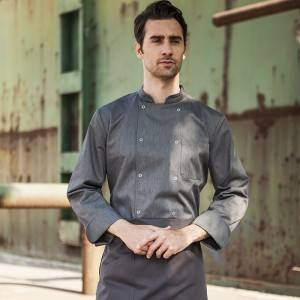 Classic Fashion Double Breasted Long Sleeve Chef Coat And Chef Uniform With Stand Collar For Restaurant And Hotel CU104C5900A