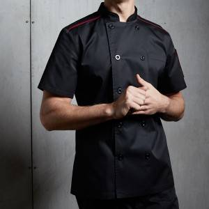 Classic Double Breasted Short Sleeve Chef Coat For Restaurant And Hotel CU104D0104E