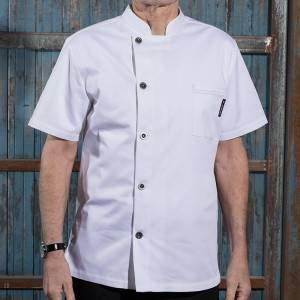 Classic Single Breasted Short Sleeve Chef Jacket For Hotel And Restaurant U106D0200A