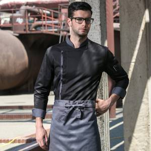 Classic Single Breasted Long Sleeve Chef Jacket For Hotel And Restaurant U108C0105A