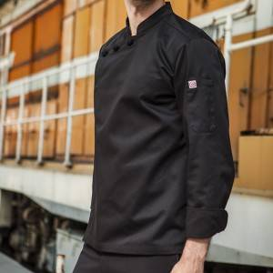 Hidden Placket Long Sleeve Classic Design Chef Jacket And Chef Uniform For Hotel And Restaurant CU1107C0100A