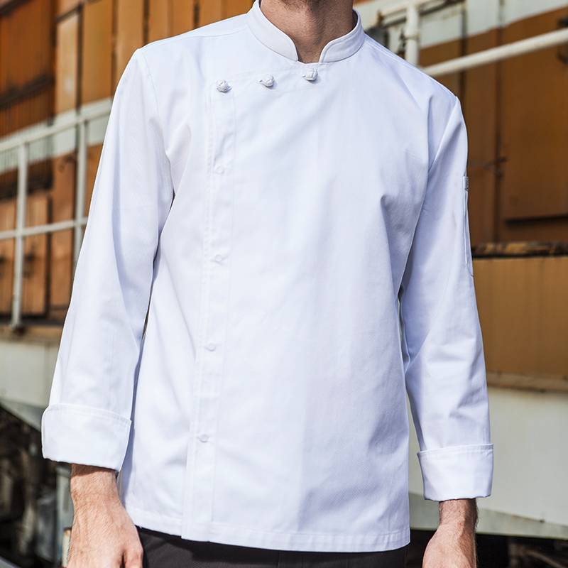 Hidden Placket Long Sleeve Classic Design Chef Jacket And Chef Uniform For Hotel And Restaurant CU1107C0200A Featured Image