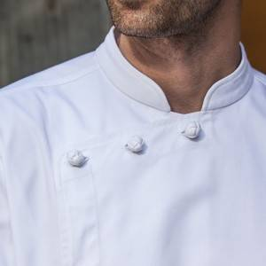 Hidden Placket Long Sleeve Classic Design Chef Jacket And Chef Uniform For Hotel And Restaurant CU1107C0200A