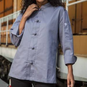 SINGLE BREASTED 3/4 SLEEVE CHEF JACKET FOR HOTEL AND RESTAURANT CU129Z1500AF