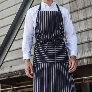 Adjustable Long Tie Kitchen Aprons With Two Pockets CU305S8600H