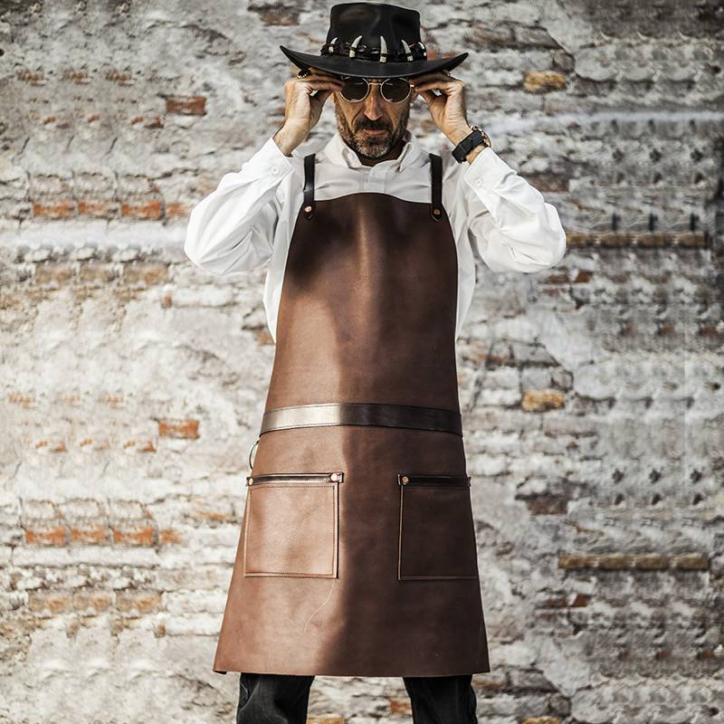 Genuine Leather Anti-Wrinkle Crossback Chef Apron CU355S134011U4 Featured Image