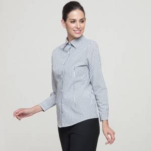 Polyester Cotton Classic Long Sleeve Slim Fit waitress uniform Shirt CW195C8400H
