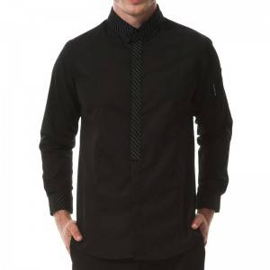 Polyester Cotton Classic Long Sleeve Slim Fit waiter uniform  M167C0181E