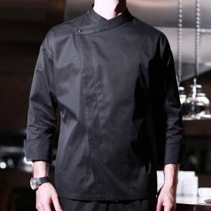 Drop Shoulder Long Sleeve Hidden Placket Chef Jacket And Chef Uniform For Restaurant   CU103C0100C