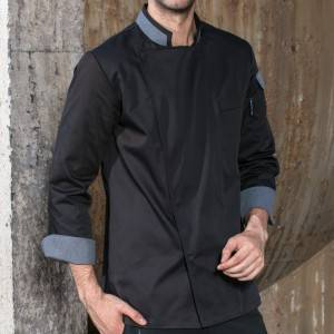 Classic Single Breasted Long Sleeve Chef Jacket For Hotel And Restaurant CU120C0159A