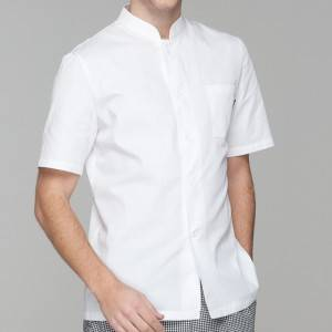 SINGLE BREASTED SHORT SLEEVE CHEF JACKET FOR HOTEL AND RESTAURANT CU128D0200E