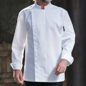 Hidden Placket Long Sleeve Fashion Design Chef Jacket For Hotel And Restaurant  CU155C0200A