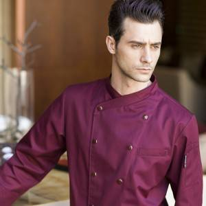 Double Breasted Long Sleeve Cross Collar Chef Jacket For Hotel And Restaurant U157C4700C