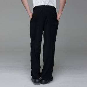 Unisex constructed poly chef pants for kitchen work U202C0100K