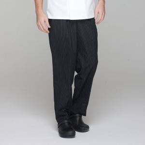 Unisex black chef pants for kitchen work U202C8100H