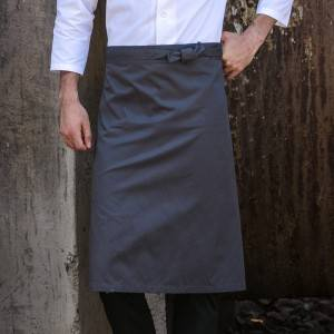 Gray Color Poly Cotton Waiter Long Waist Apron U302S0500A