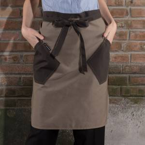 Waiter Chef Apron Canvas Half Apron U3061D037049U