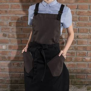 RESTAURANT KITCHEN CANVAS BIB CHEF APRON WITH POCKETS U3062S001049U