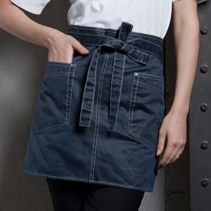 Blue Waiter Waist Apron With Pockets U369S119000AG