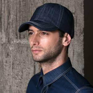 Restaurant Waiter Chef Denim Baseball Cap U401S4000T
