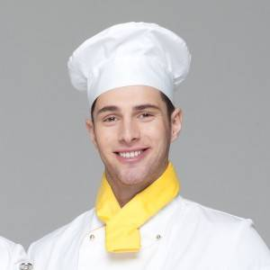 Pleated Chef Hat Poly Cotton White Chef Hat U404S0200A